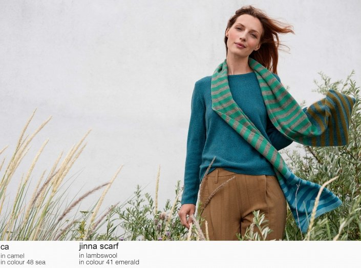 mansted ca camel 48 sea lambswool jinna 41 emerald aw19 aw 2019 Knitwear quality knit multicoloured colour colourful cotton yak lambswool soft versatile feminine beautiful details fashion favourite autumn winter bright colours pullover jumper t-shirt cardigan jacket strik kvalitetsstrik farverig bluser trøjer feminin strik til kvinder