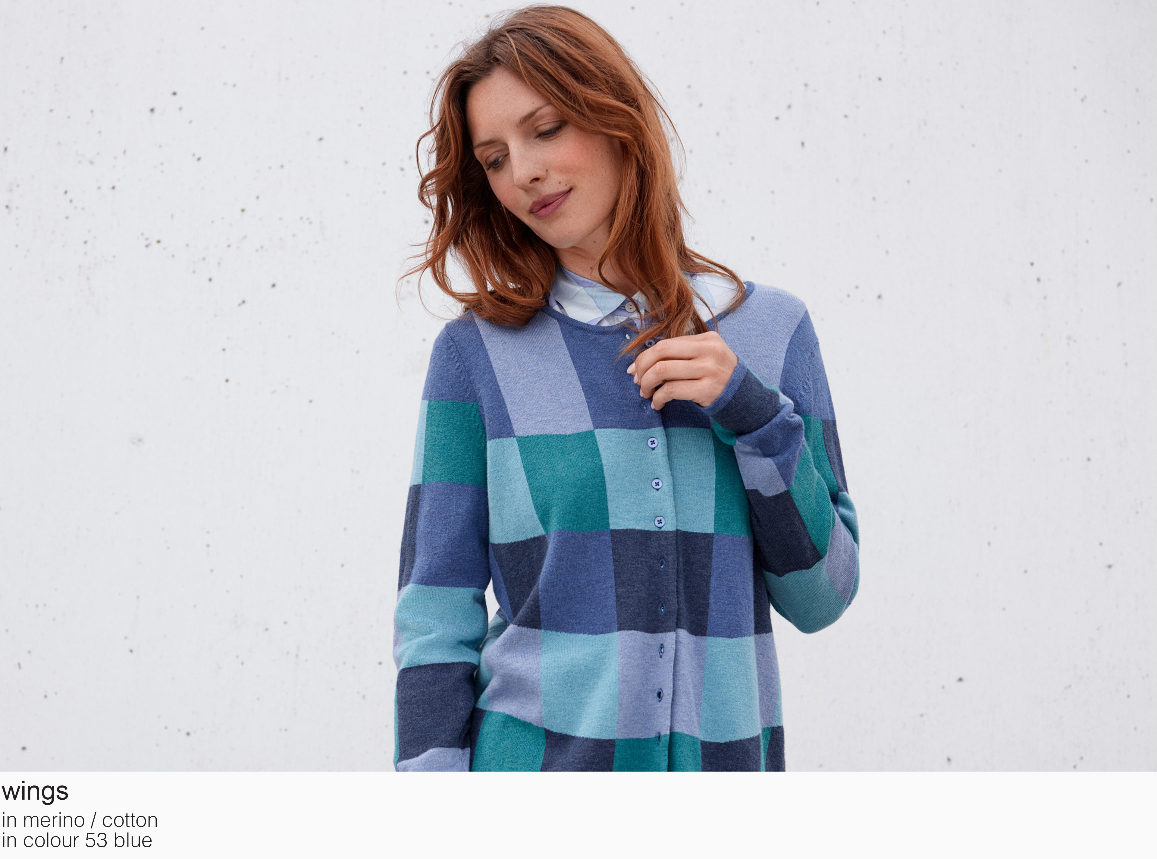 mansted wings merino cotton 53 blue aw19 aw 2019 Knitwear quality knit multicoloured colour colourful cotton yak lambswool soft versatile feminine beautiful details fashion favourite autumn winter bright colours pullover jumper t-shirt cardigan jacket strik kvalitetsstrik farverig bluser trøjer feminin strik til kvinder