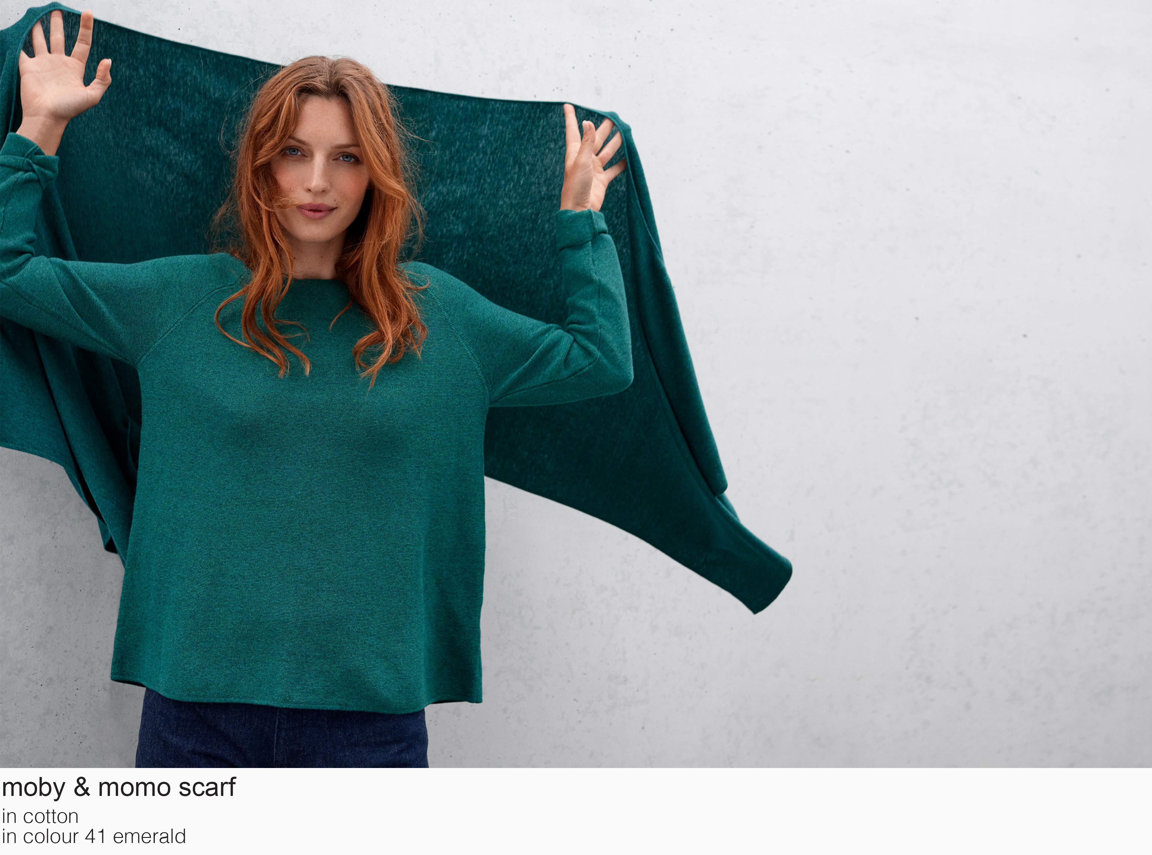 mansted moby momo cotton 41 emerald aw19 aw 2019 Knitwear quality knit multicoloured colour colourful cotton yak lambswool soft versatile feminine beautiful details fashion favourite autumn winter bright colours pullover jumper t-shirt cardigan jacket strik kvalitetsstrik farverig bluser trøjer feminin strik til kvinder