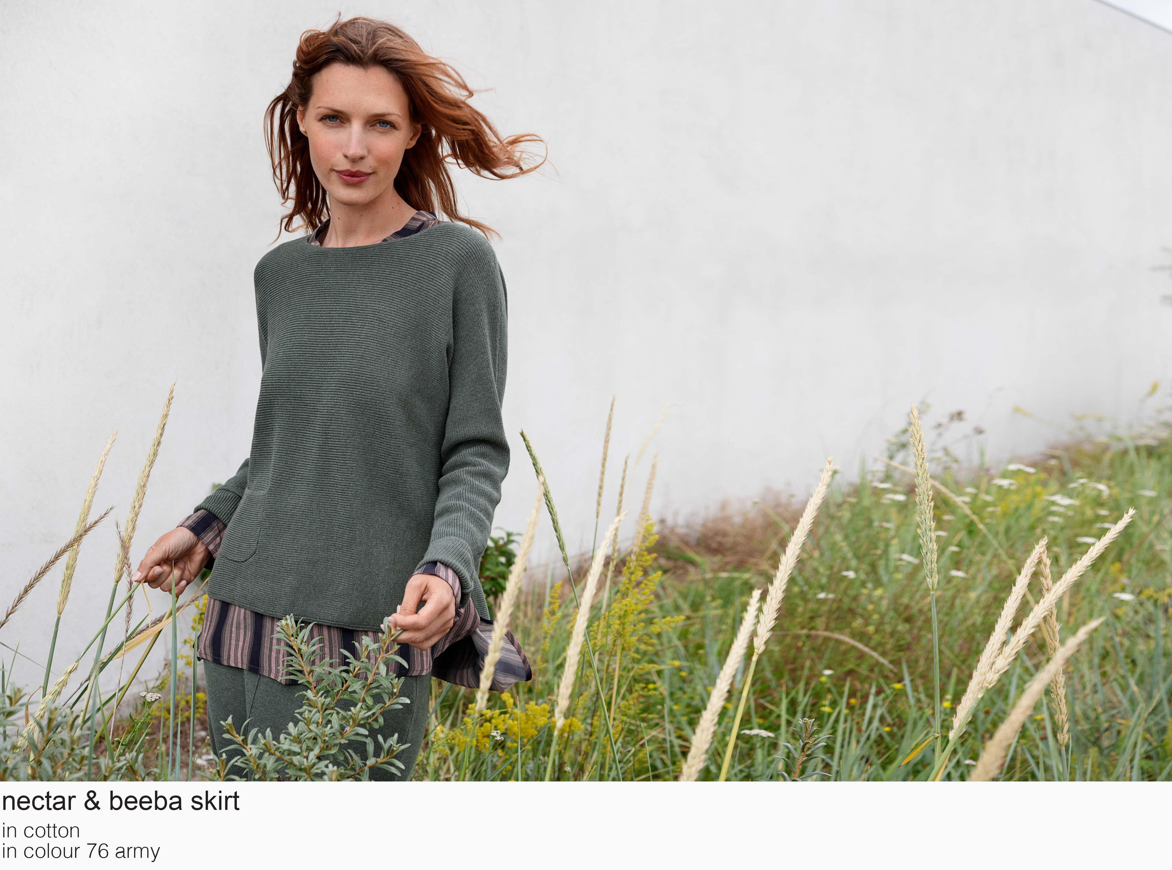 mansted nectar beeba cotton 76 army aw19 aw 2019 Knitwear quality knit multicoloured colour colourful cotton yak lambswool soft versatile feminine beautiful details fashion favourite autumn winter bright colours pullover jumper t-shirt cardigan jacket strik kvalitetsstrik farverig bluser trøjer feminin strik til kvinder