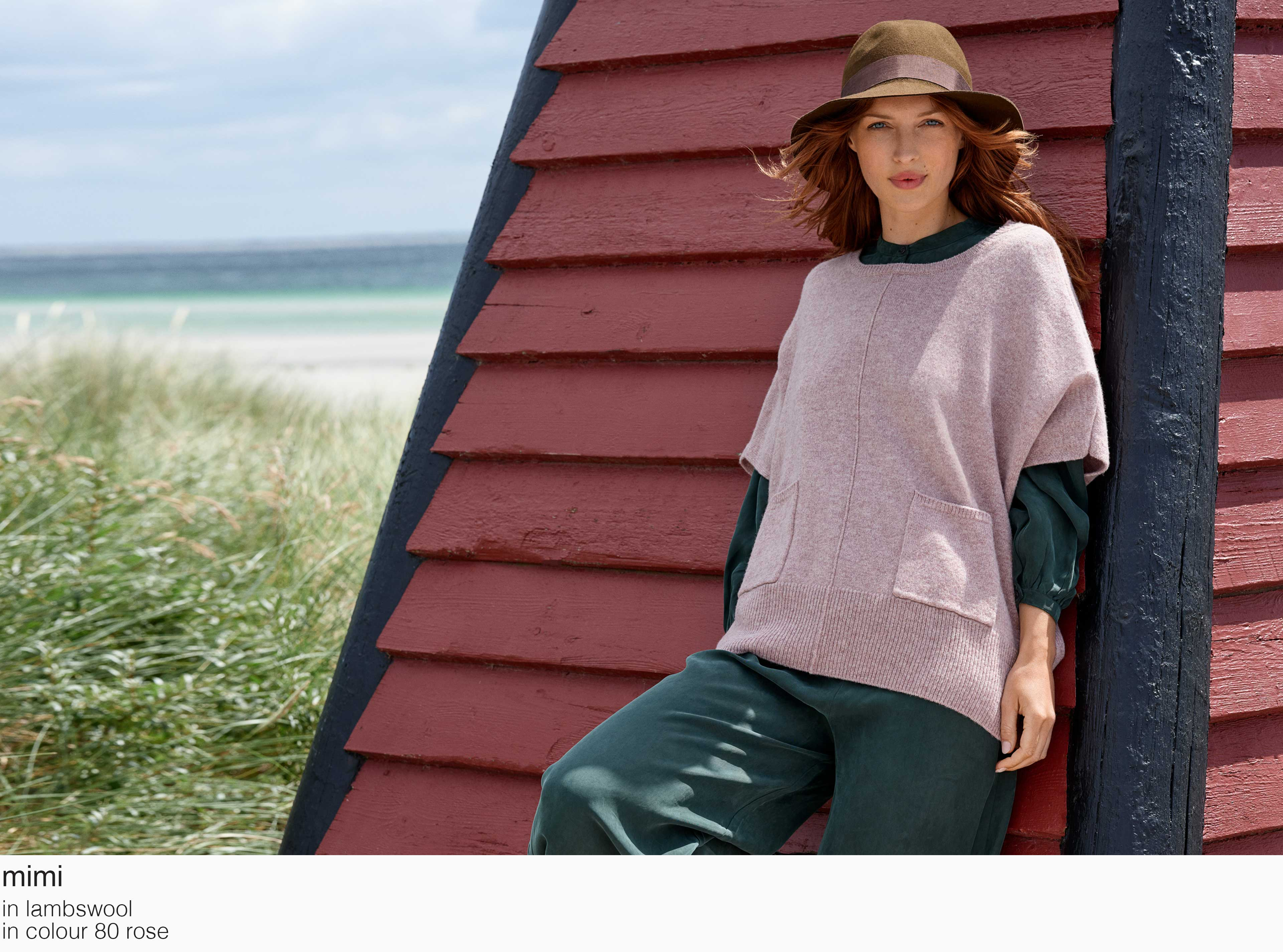 mansted mimi lambswool 80 rose aw19 aw 2019 Knitwear quality knit multicoloured colour colourful cotton yak lambswool soft versatile feminine beautiful details fashion favourit autumn winter bright colours pullover jumper t-shirt cardigan jacket strik kvalitetsstrik farverig bluser trøjer feminin strik til kvinder