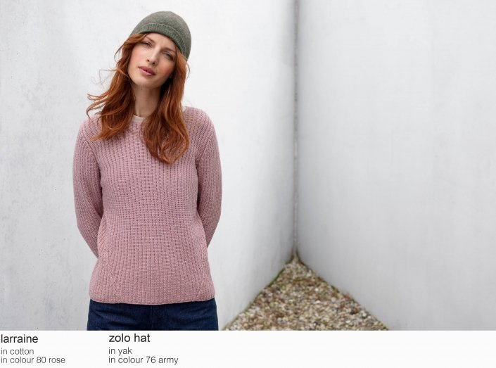 mansted larraine cotton 80 rose zolo yak aw19 aw 2019 hat 76 army Knitwear quality knit multicoloured colour colourful cotton yak lambswool soft versatile feminine beautiful details fashion favourit autumn winter bright colours pullover jumper t-shirt cardigan jacket strik kvalitetsstrik farverig bluser trøjer feminin strik til kvinder